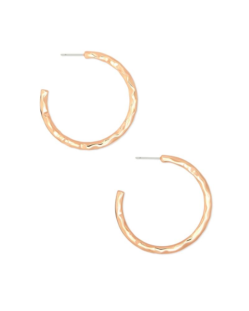 Zorte Small Hoop Earrings in Rose Gold