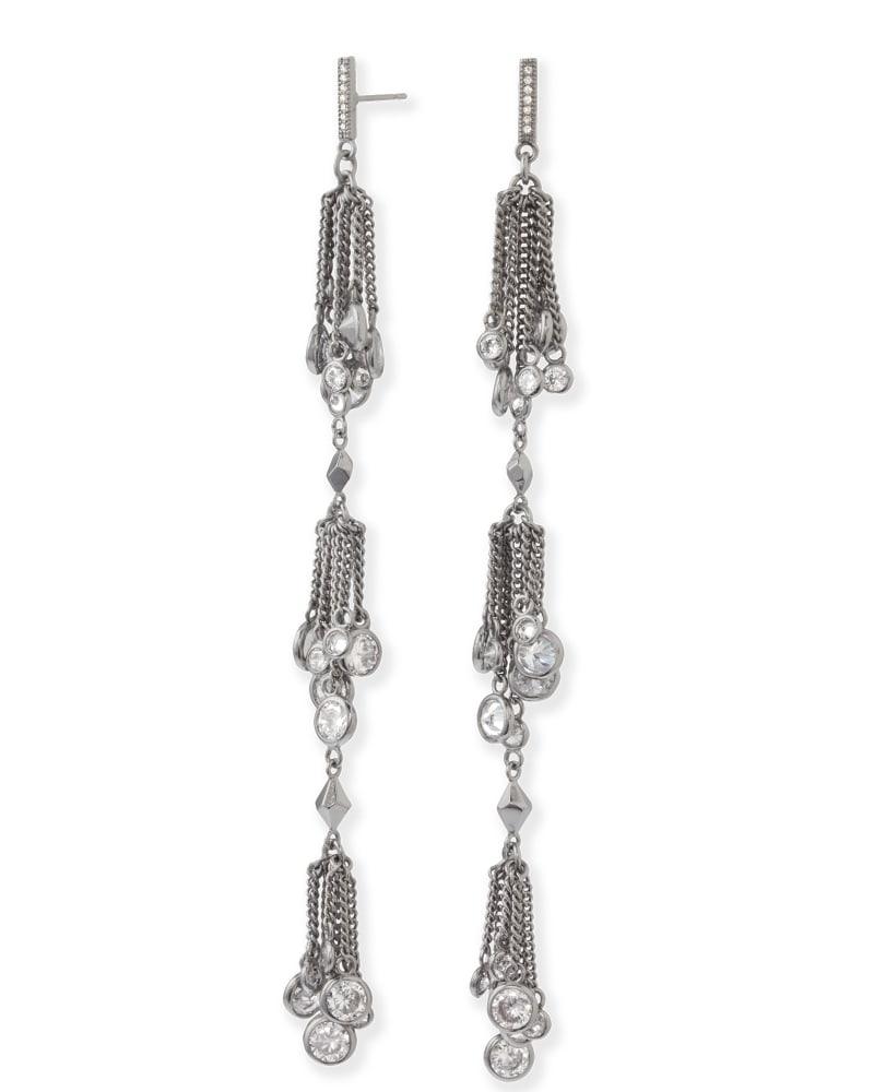 Tallulah Shoulder Duster Earrings in Hematite
