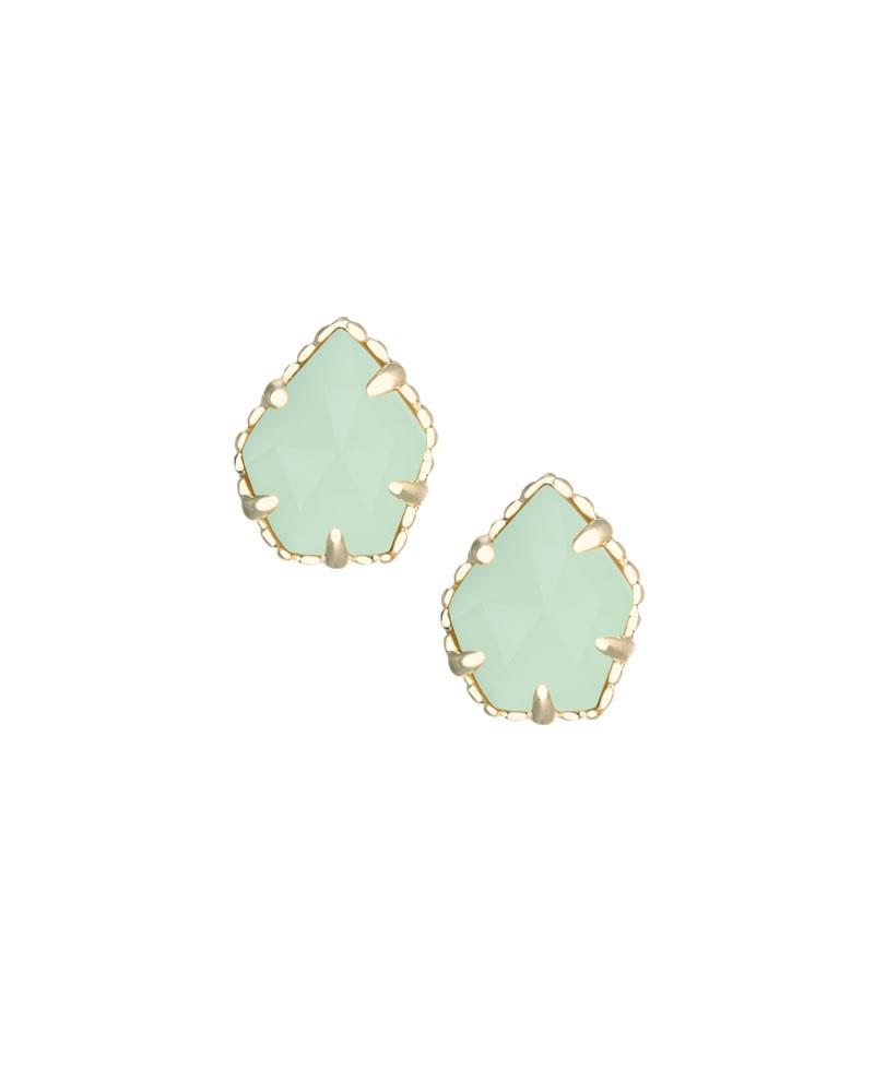 Tessa Stud Earrings in Chalcedony