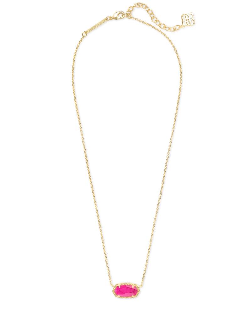 Elisa Gold Pendant Necklace in Azalea Illusion