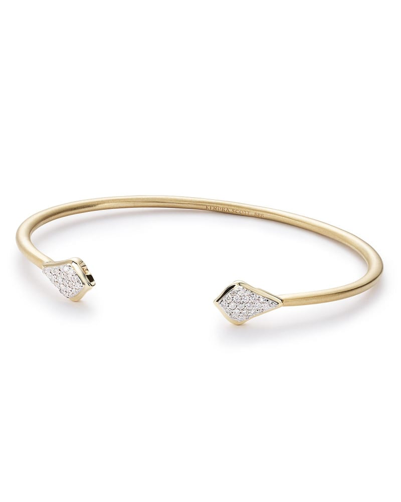 Alexi Pinch Bracelet in Pave Diamond and 14k Yellow Gold