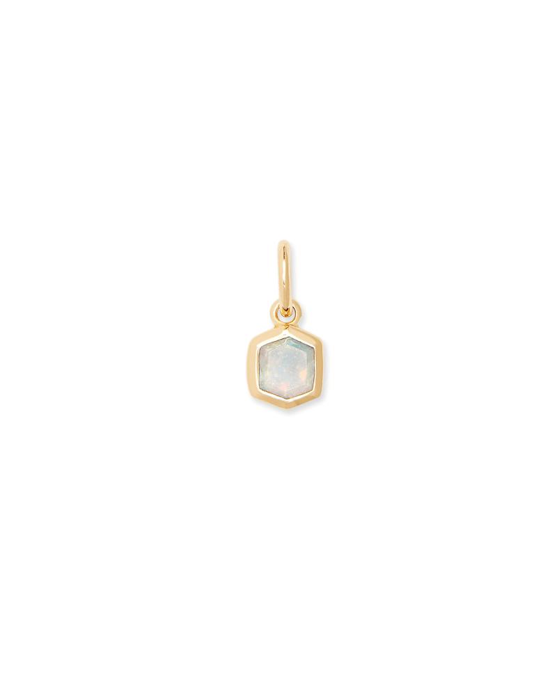 Davie 18K Gold Vermeil Charm in Opal