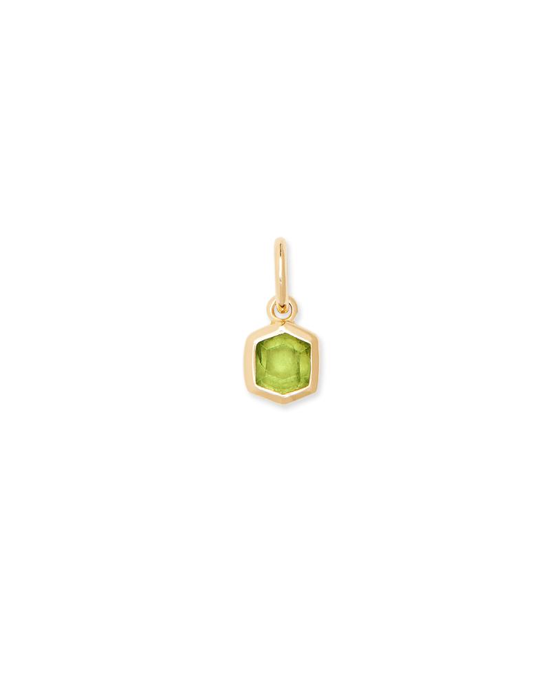 Davie 18K Gold Vermeil Charm in Green Peridot