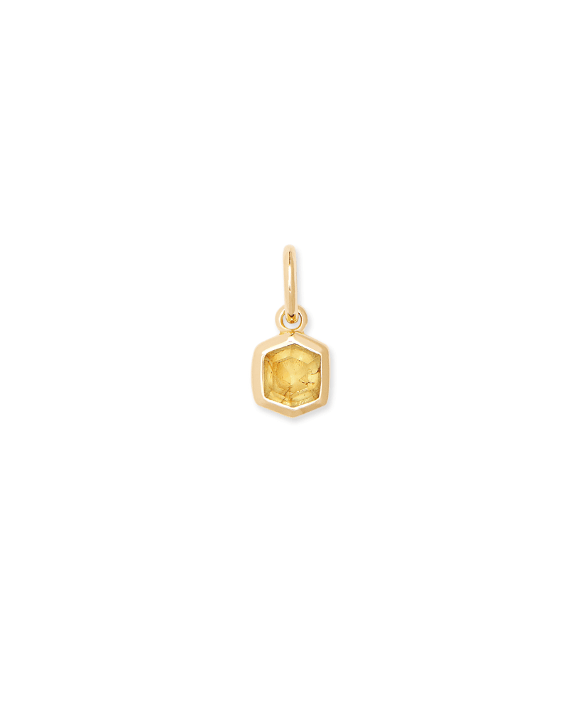 Davie 18K Gold Vermeil Charm in Light Citrine