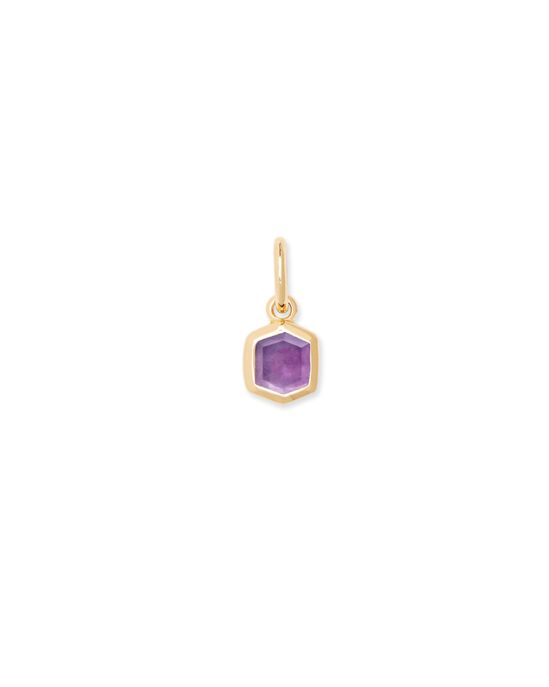 Davie 18K Gold Vermeil Charm in Amethyst