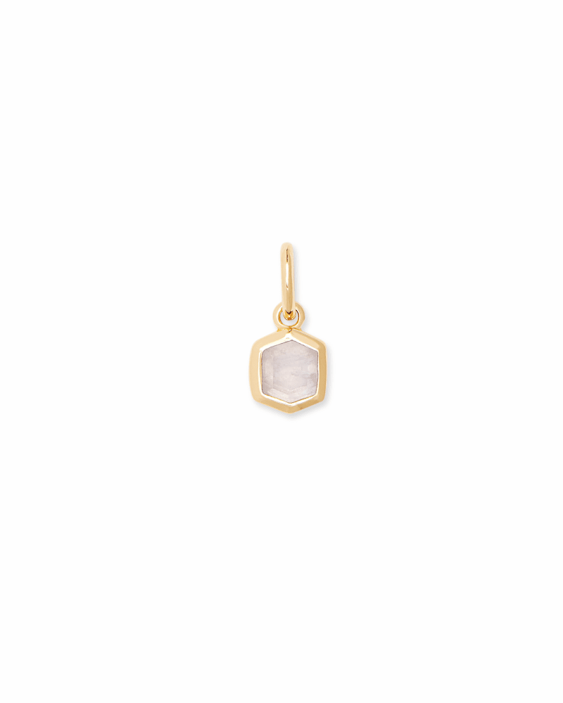 Davie 18K Gold Vermeil Charm in Rainbow Moonstone