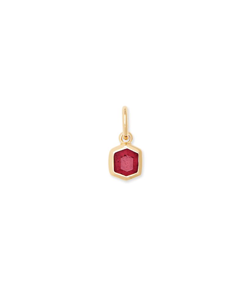 Davie 18K Gold Vermeil Charm in Red Garnet