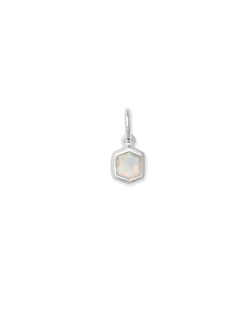 Davie Sterling Silver Charm in White Opal