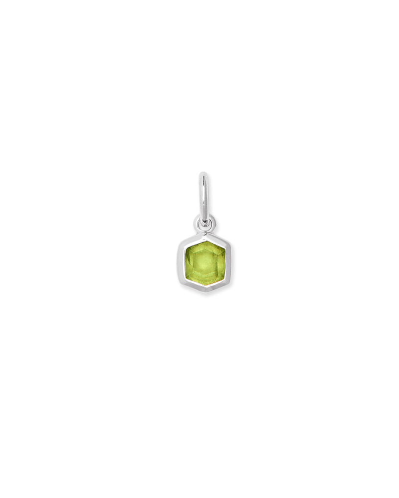 Davie Sterling Silver Charm in Green Peridot