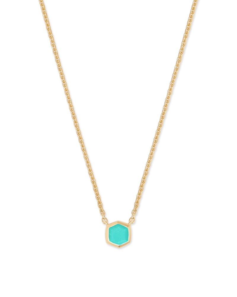 Davie 18K Gold Vermeil Pendant Necklace in Chrysoprase