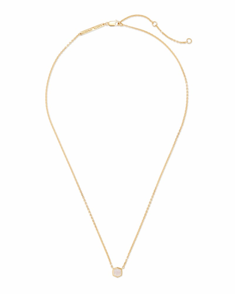 Davie 18K Gold Vermeil Pendant Necklace in Rainbow Moonstone