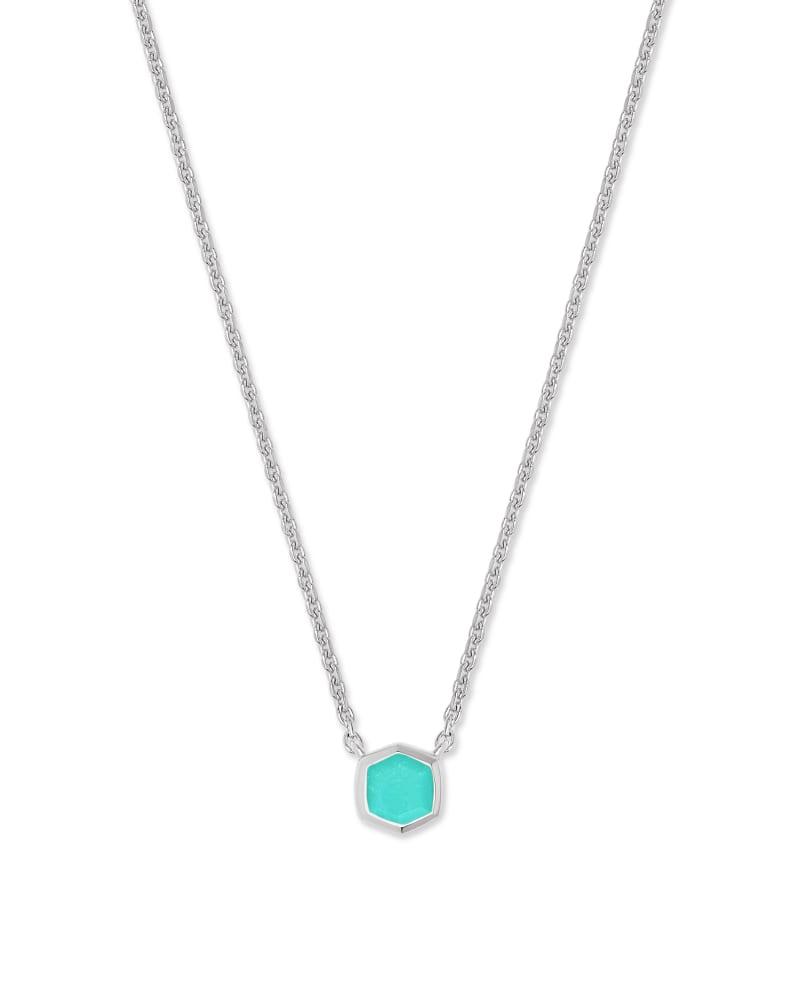 Davie 18K Sterling Silver Pendant Necklace in Chrysoprase