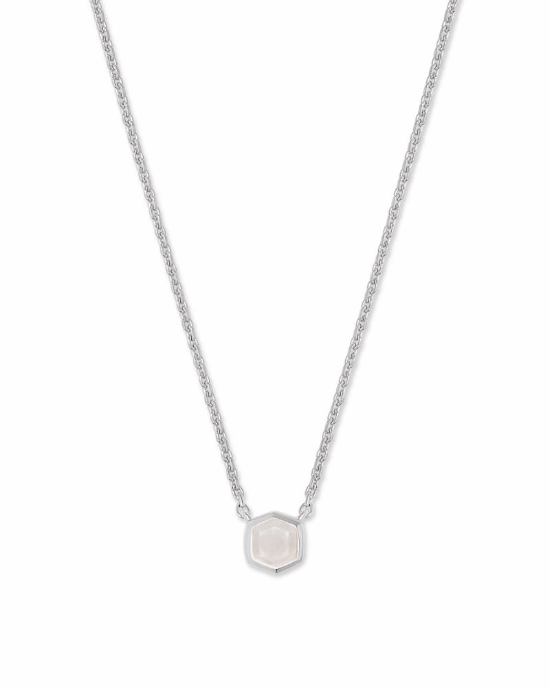 Davie Sterling Silver Pendant Necklace in Rainbow Moonstone