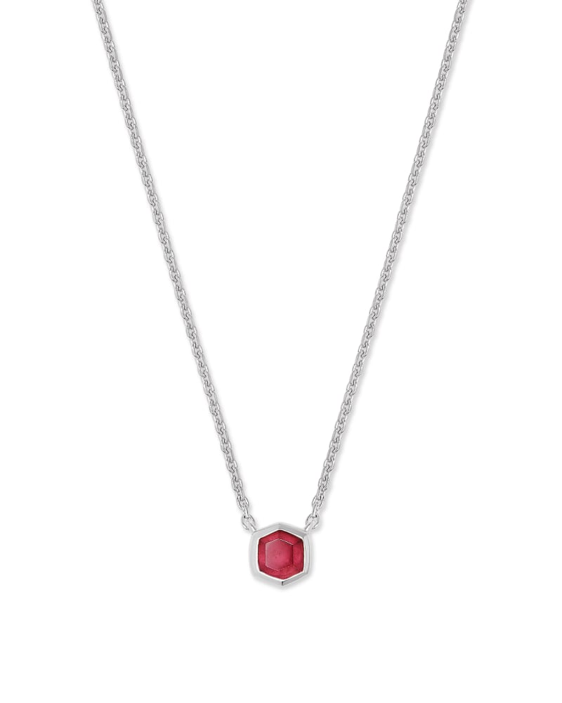 Davie Sterling Silver Pendant Necklace in Garnet