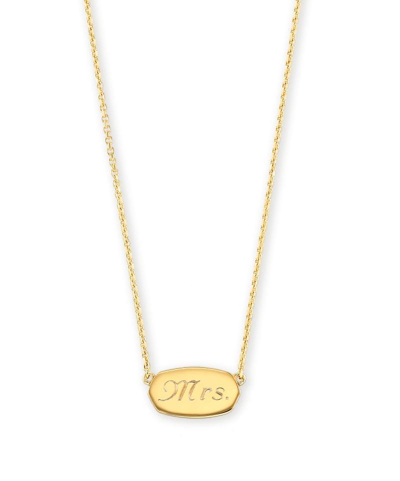 Mrs. Elisa Pendant Necklace in 18k Gold Vermeil