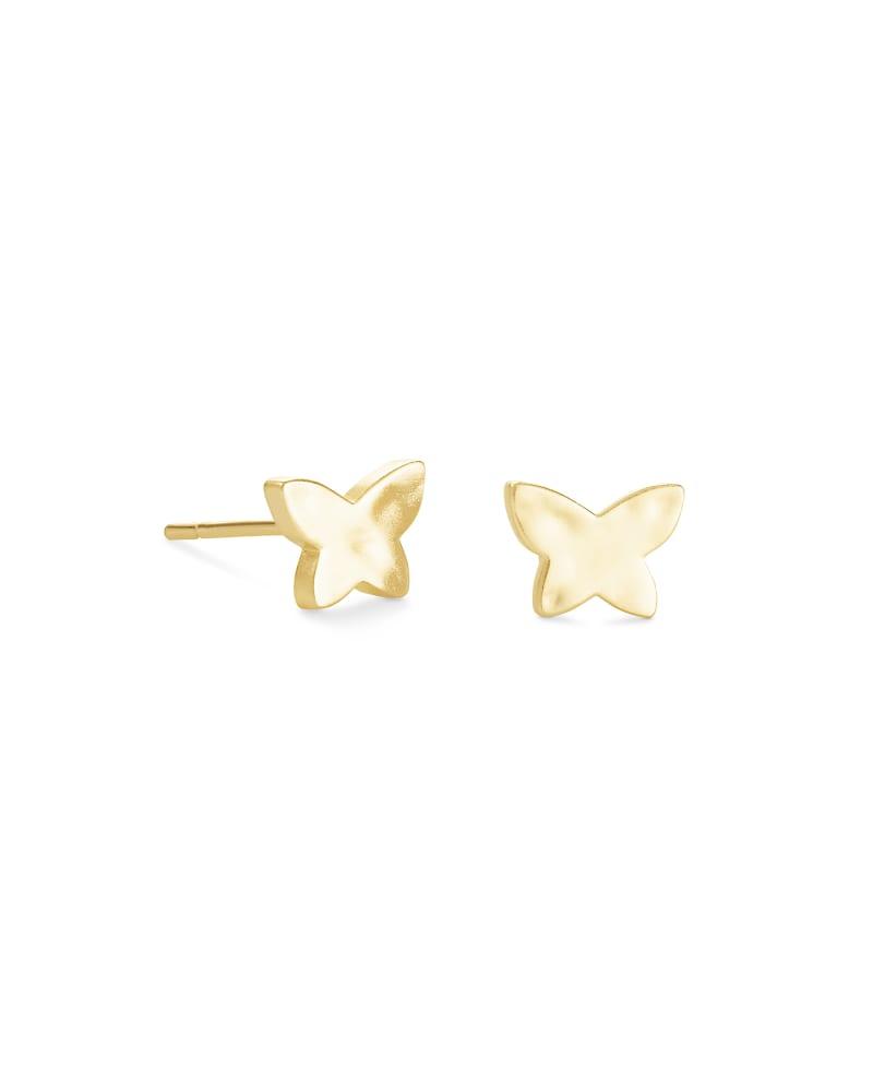Lillia Butterfly Stud Earrings in Gold