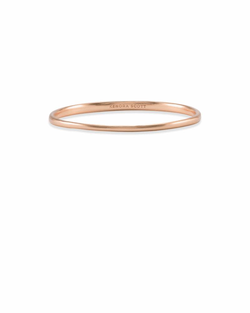 Graduated Bangle Bracelet in Rose Gold