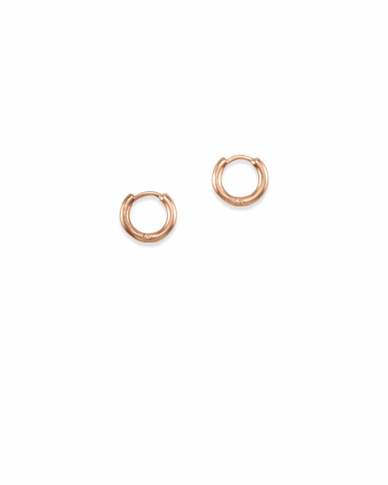 Huggie Hoop Earrings in Rose Gold