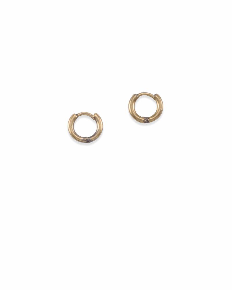 Huggie Hoop Earrings in Vintage Gold