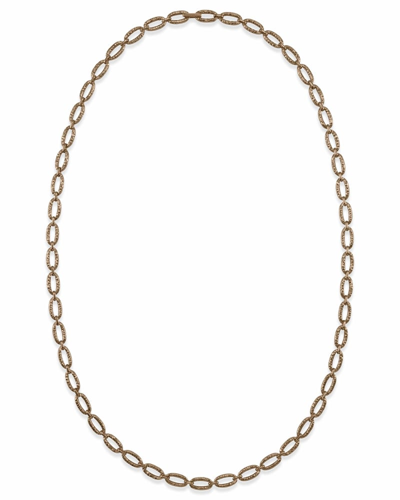 32 Inch Chain Link Necklace in Vintage Gold