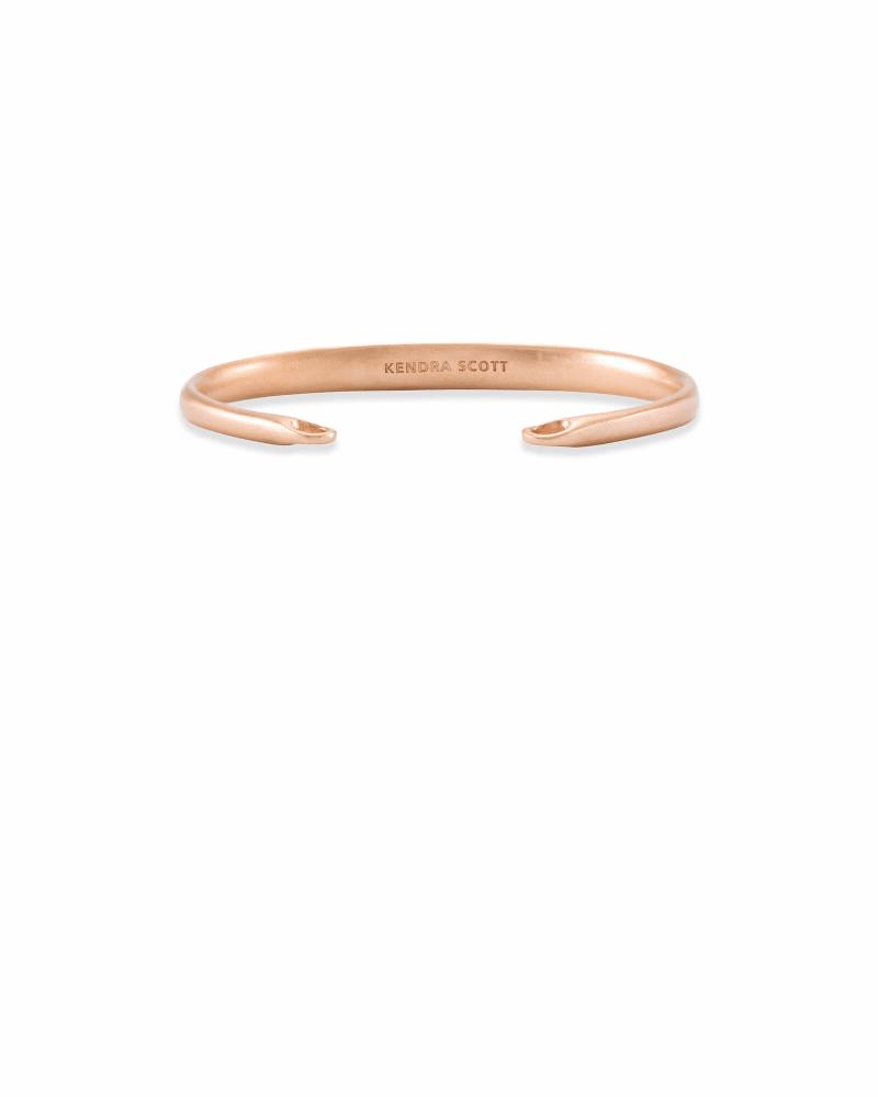 Pinch Cuff Bracelet in Rose Gold