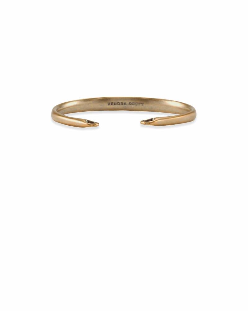 Pinch Cuff Bracelet in Vintage Gold