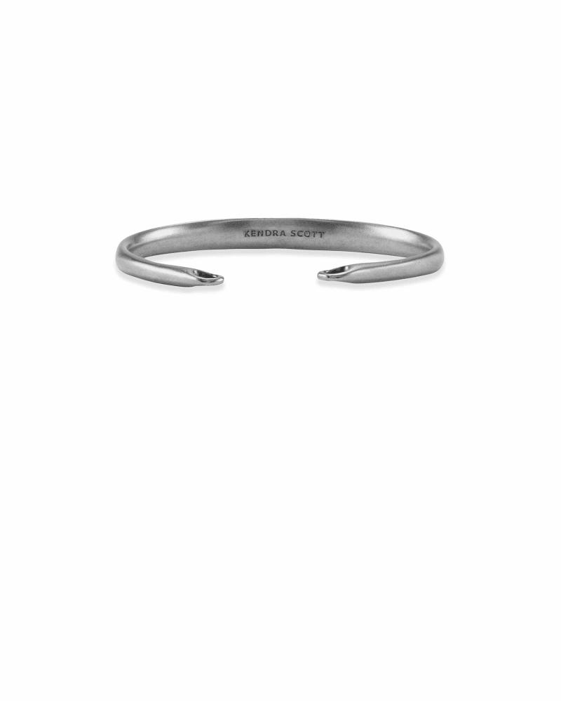 Pinch Cuff Bracelet in Vintage Silver