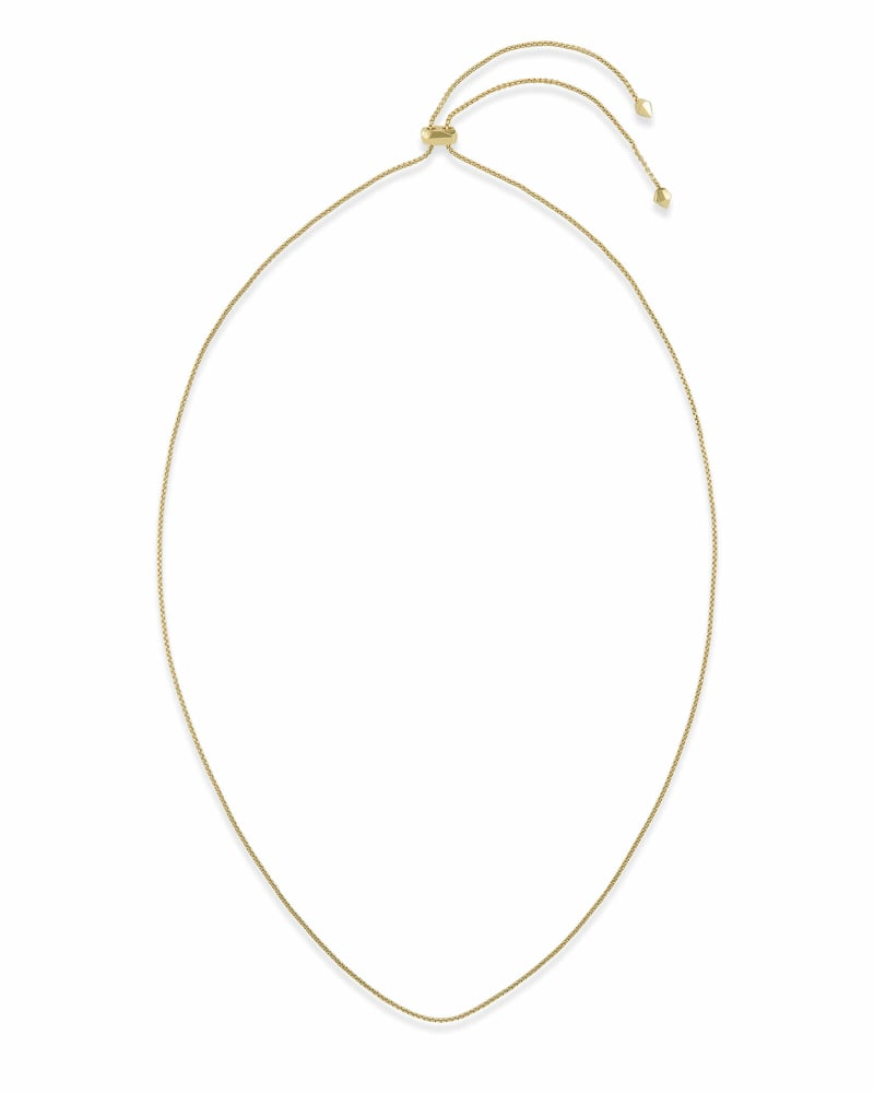 Thin Adjustable Chain Necklace in Gold