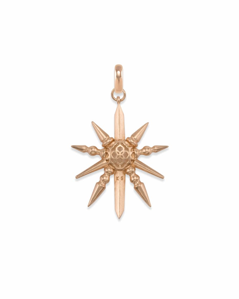 Sunburst with Pearl Charm in Rose Gold