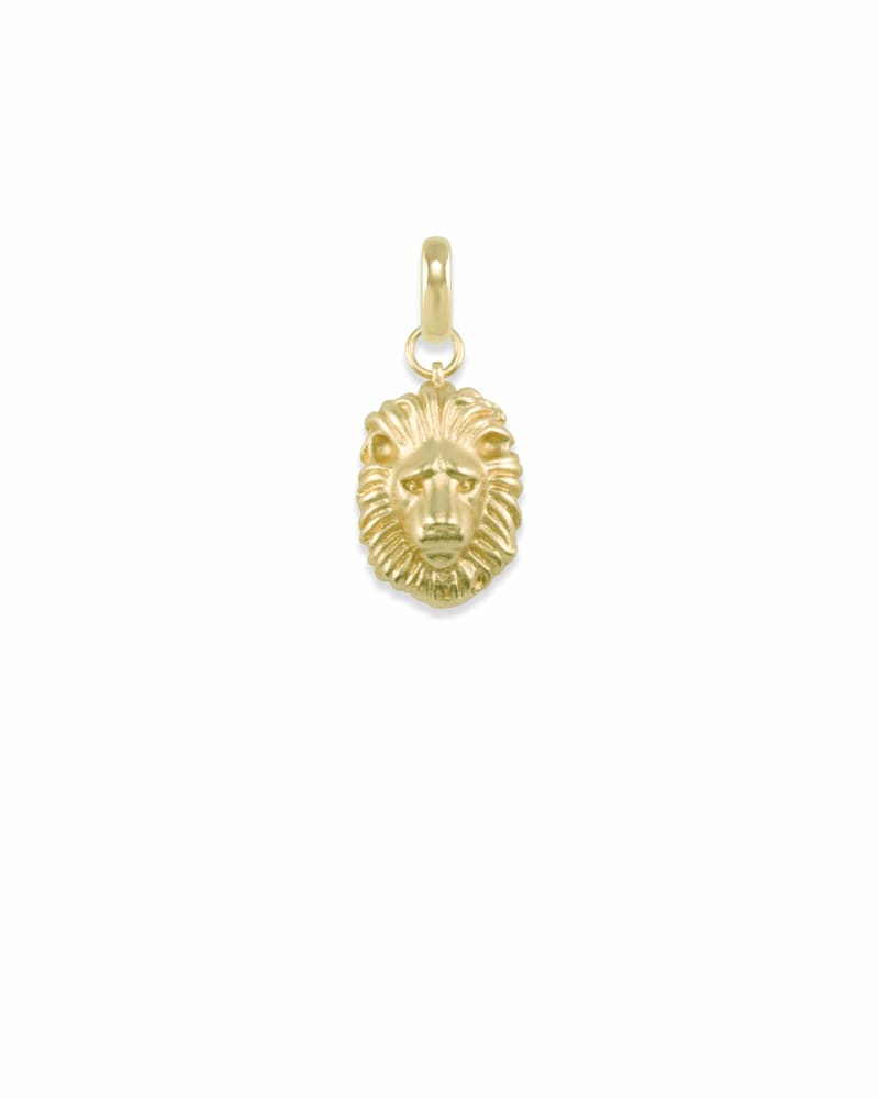 Small Lion Charm in Gold