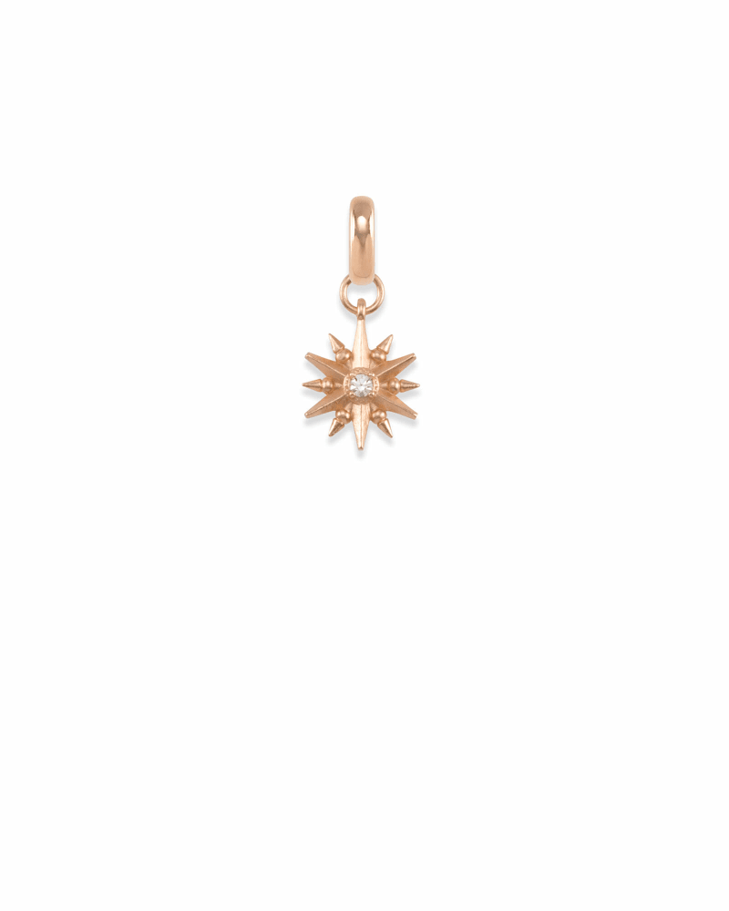 Star Charm in Rose Gold