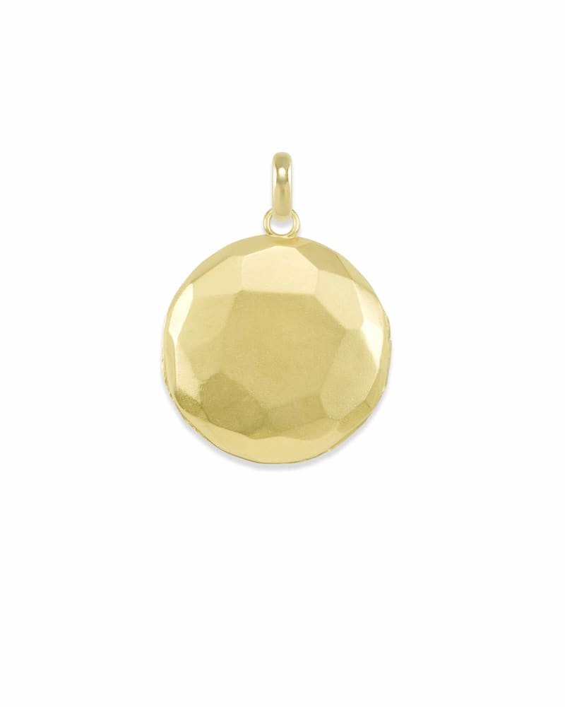 Large Locket Charm in Gold