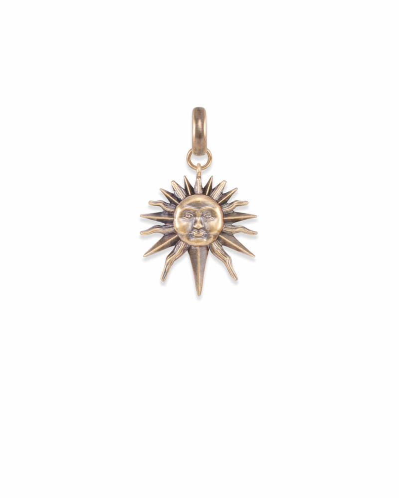 Sun Charm in Vintage Gold