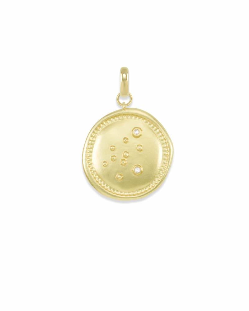 Aquarius Charm Coin in Gold
