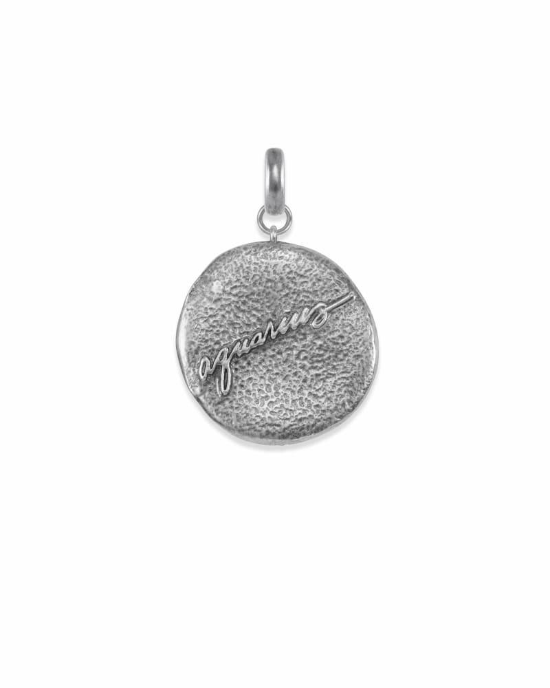 Aquarius Charm Coin in Vintage Silver