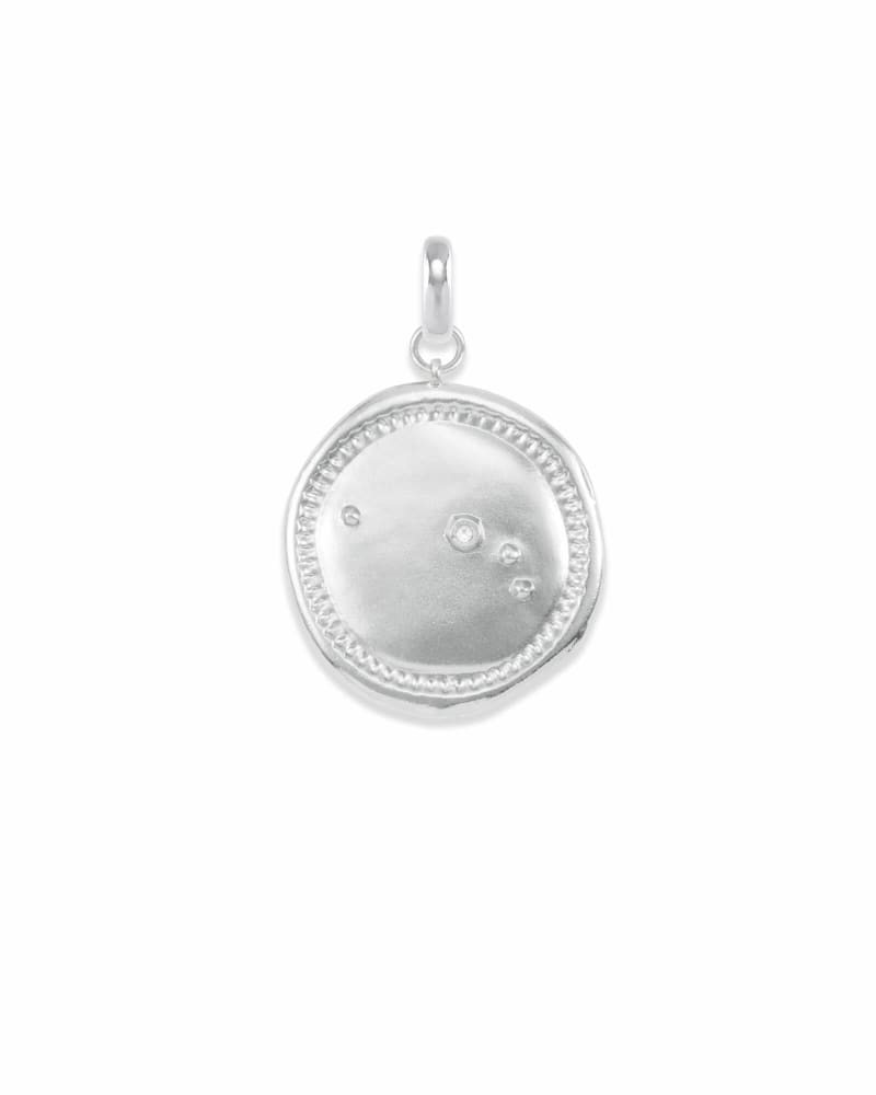Aries Coin Charm in Silver