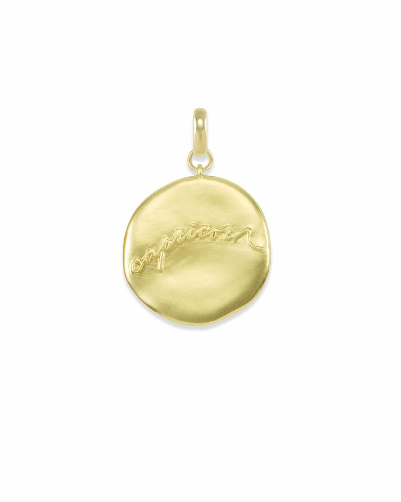 Capricorn Coin Charm in Gold