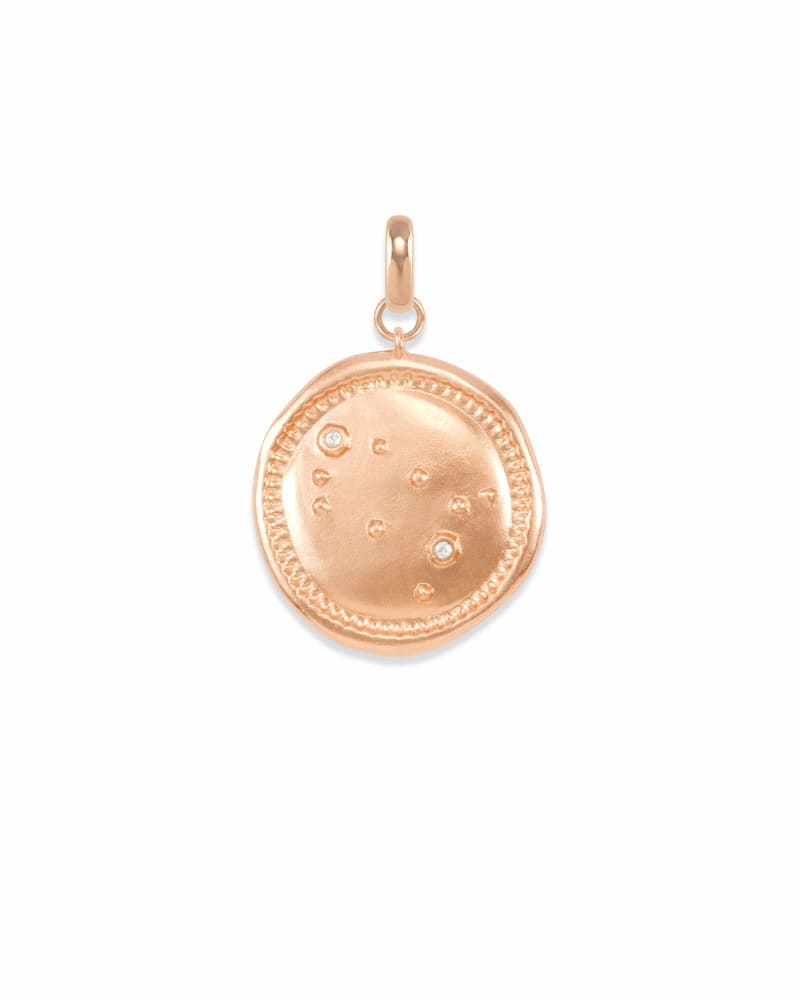 Gemini Coin Charm in Rose Gold