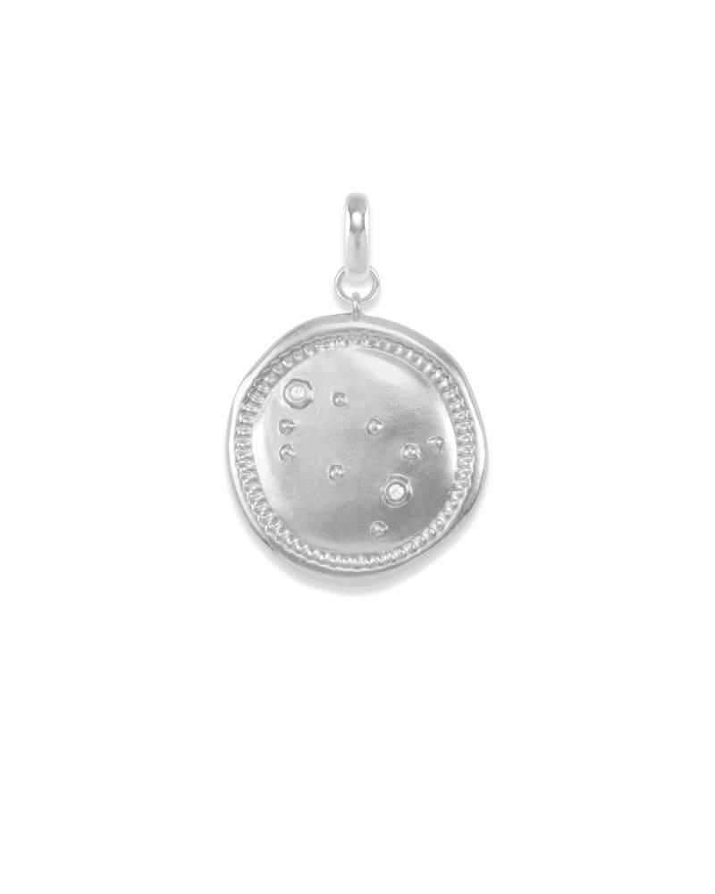 Gemini Coin Charm in Silver