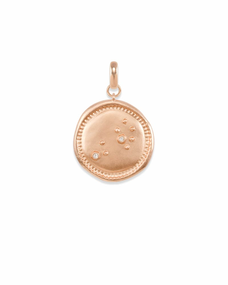 Leo Coin Charm in Rose Gold