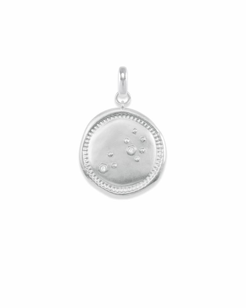 Leo Coin Charm in Silver