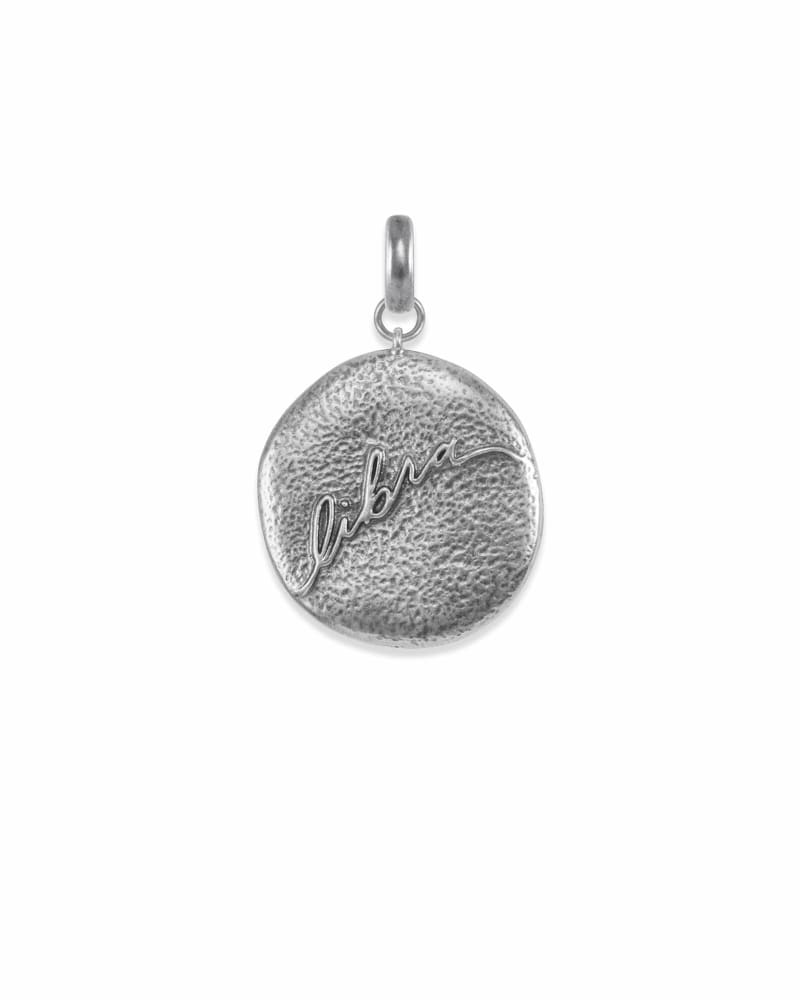 Libra Coin Charm in Vintage Silver