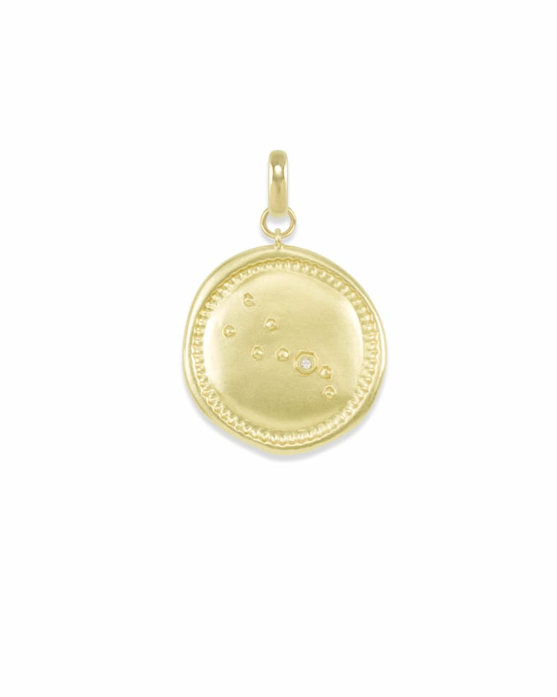 Taurus Coin Charm in Gold