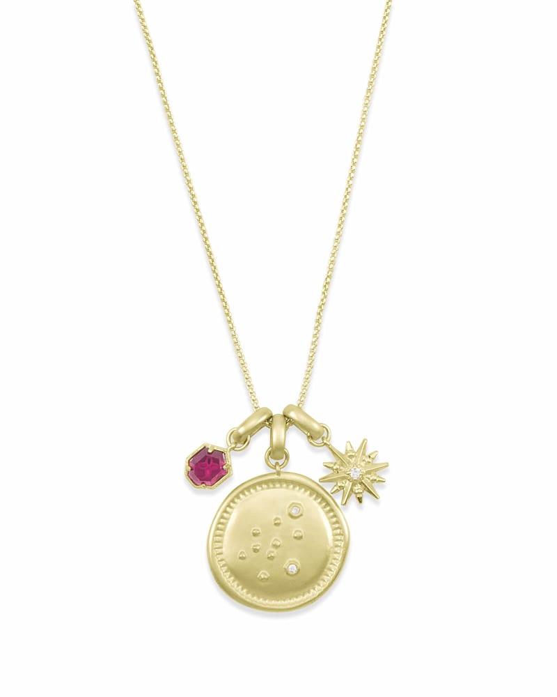 January Aquarius Charm Necklace Set