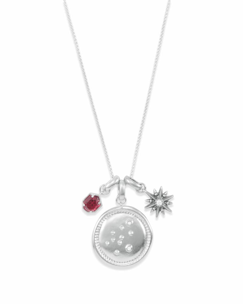 January Aquarius Charm Necklace Set in Silver