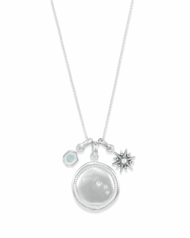 March Aries Charm Necklace Set in Silver