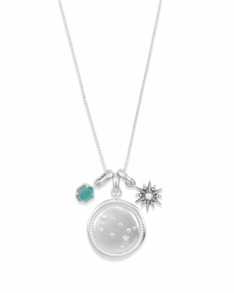 May Gemini Charm Necklace Set in Silver