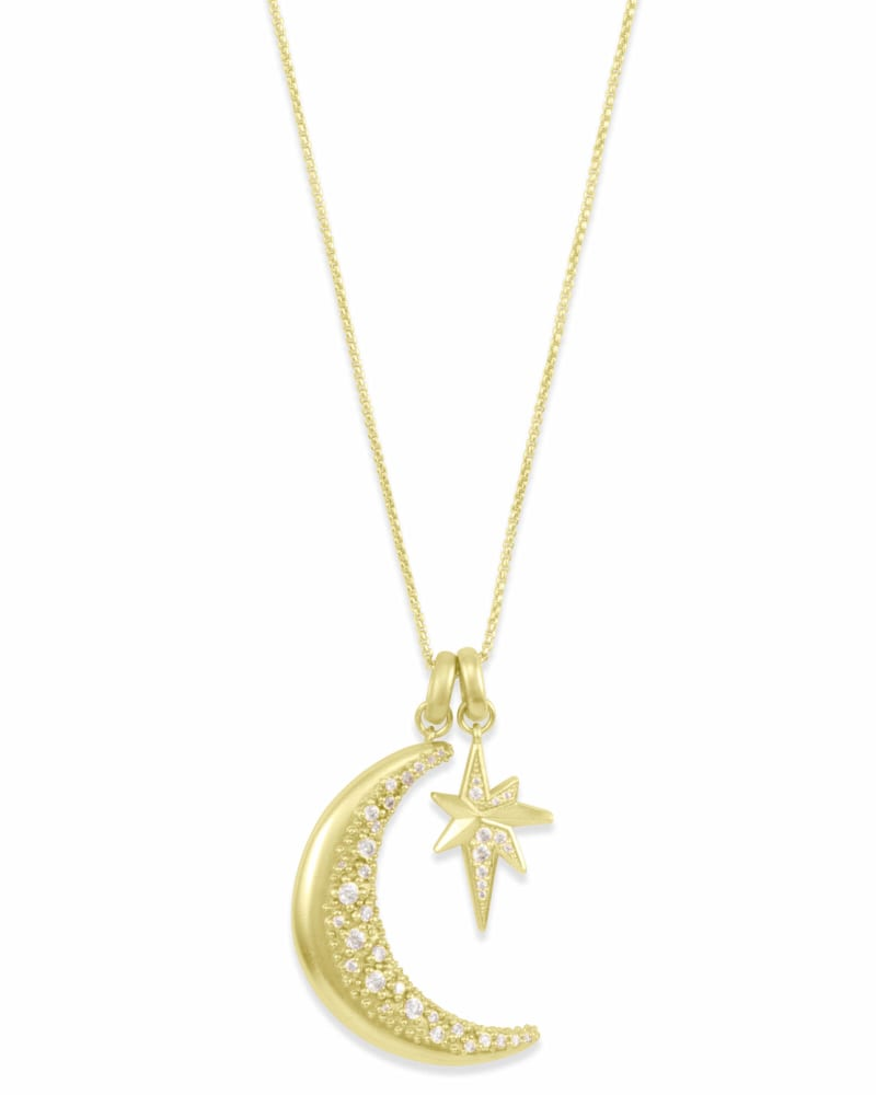 Go Beyond Charm Necklace Set in Gold
