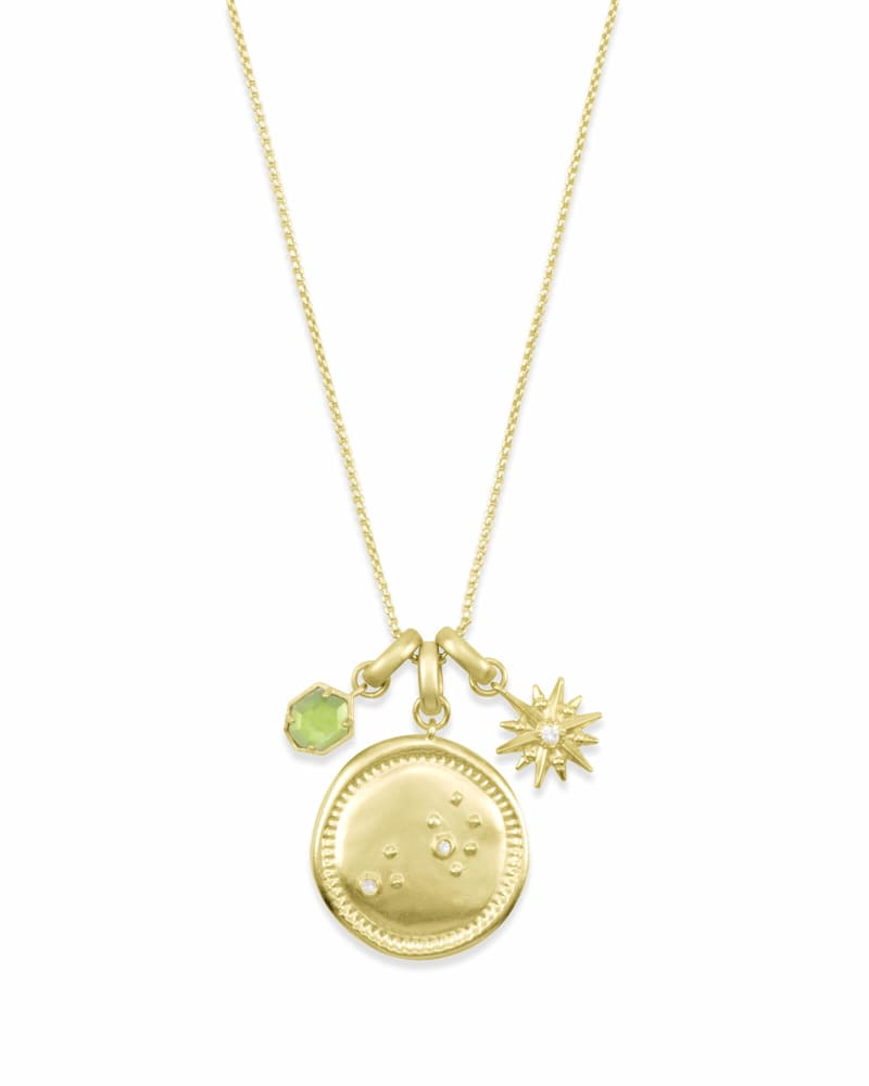 August Leo Charm Necklace Set in Gold