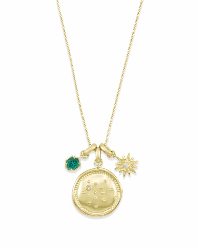December Sagittarius Charm Necklace Set in Gold